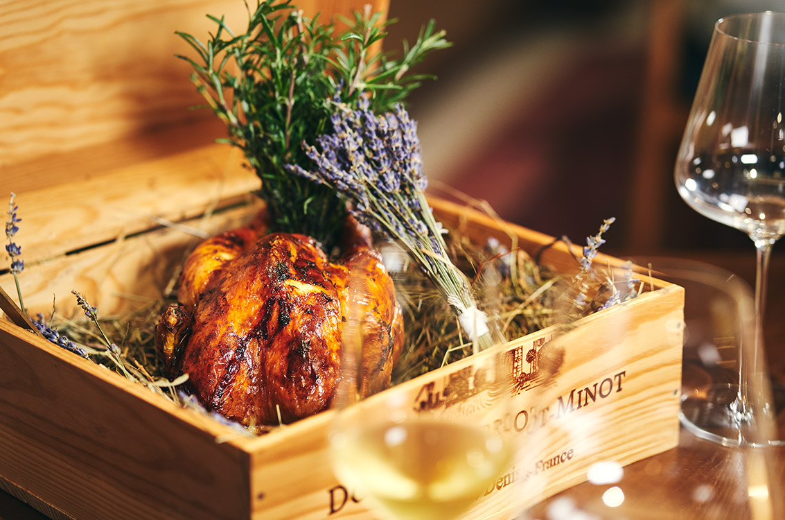 Bâtard's Signature Roast Chicken, Pilaf Rice