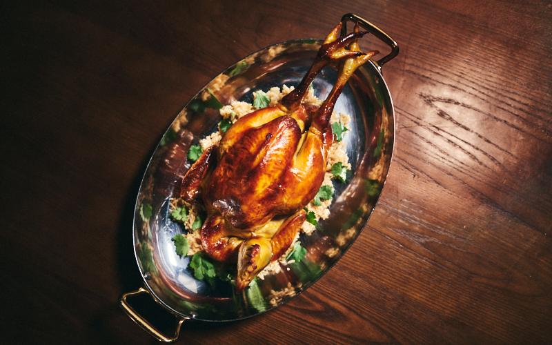 Bâtard's Signature Roast Chicken, warm Pilaf Rice – Serves 2-4